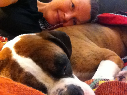 Cuddles with mommy!