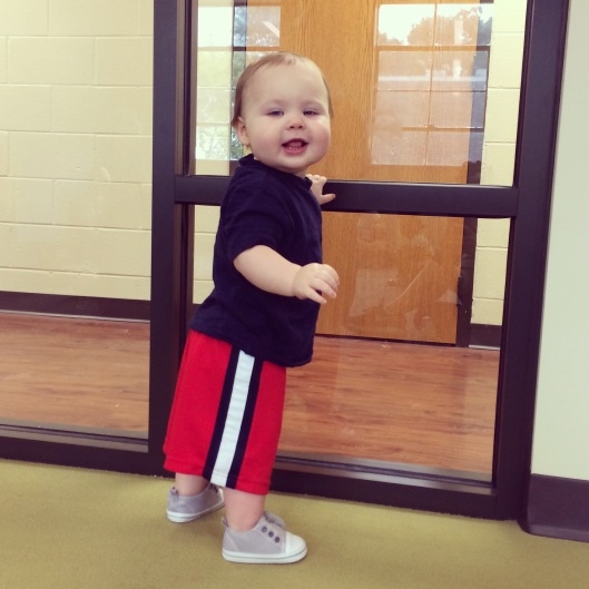 Big boy at music class!