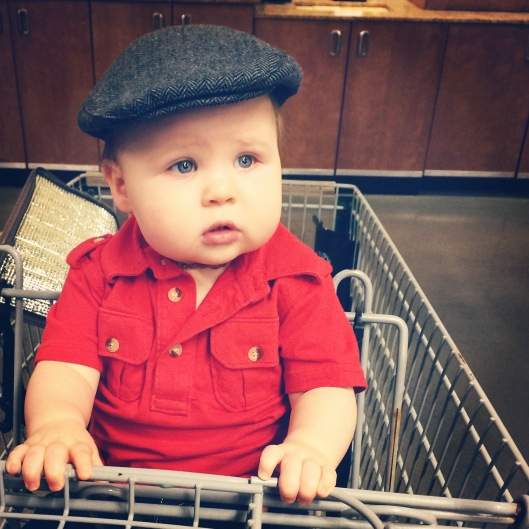 Looking handsome at Whole Foods.