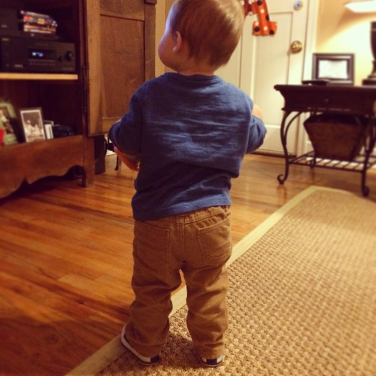 I love dressing him for school in little cords and khakis!