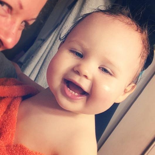 bathtime cuddles with mommy!