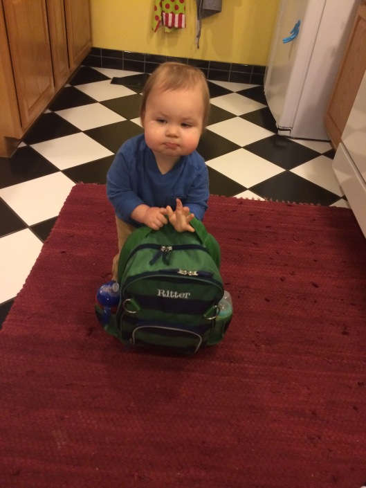 he loves school so much he tries to pick up his backpack when we are taking too long to leave in the mornings!