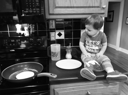 Sunday morning pancake making!